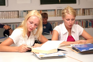 Students on a language course